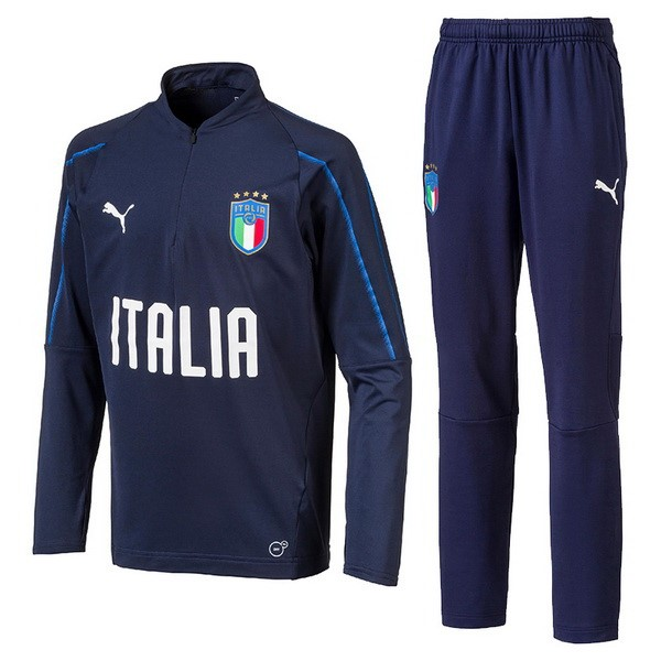 Survetement Foot Italie 2018 Bleu Marine