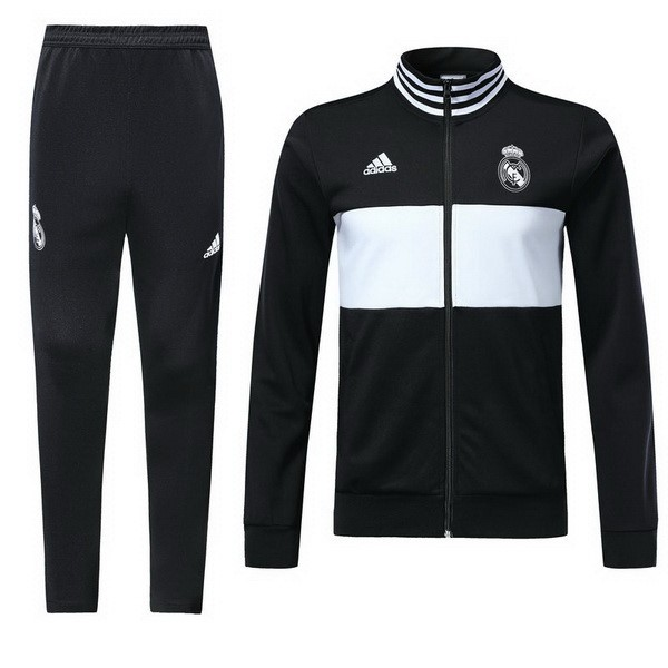 Survetement Foot Enfant Real Madrid 2018 2019 Noir Blanc