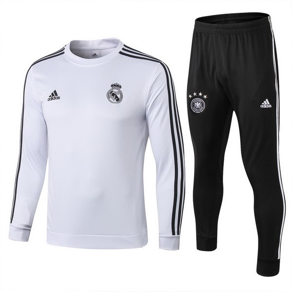 Survetement Foot De Lana Enfant Real Madrid 2018-2019 Noir Blanc Noir