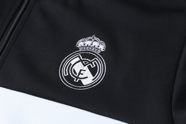 Survetement Foot Enfant Real Madrid 2018-2019 Noir Blanc