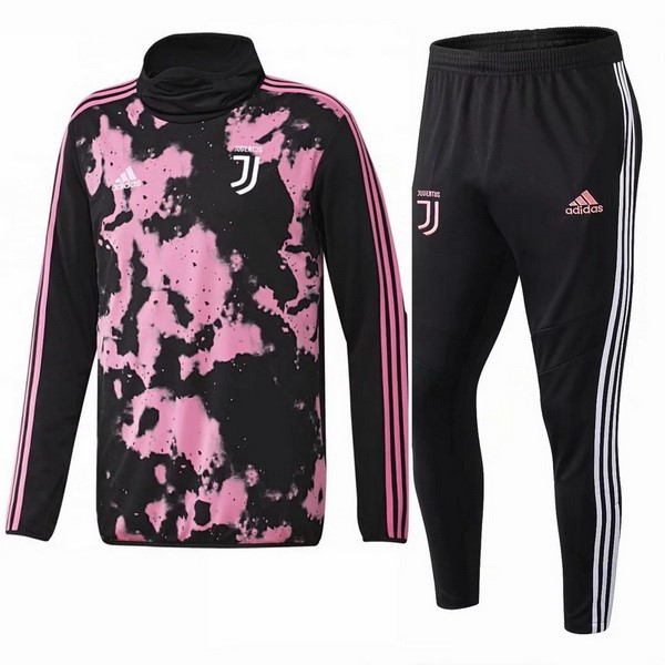 Survetement Foot Juventus 2019 2020 Noir Rose Blanc