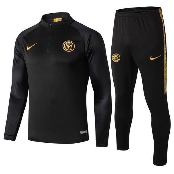 Survetement Foot Inter Milan 2019 2020 Noir Jaune