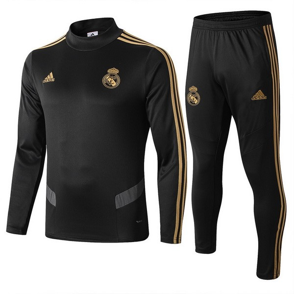 Survetement Foot Enfant Real Madrid 2019 2020 Noir Gris