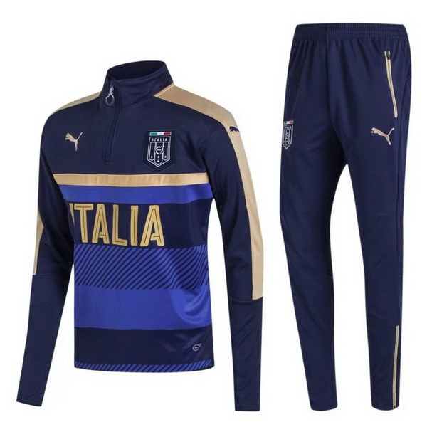 Survetement Foot Italie 2017 Noir Or Bleu