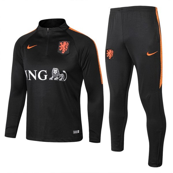Survetement Foot Pays-Bas 2018 Noir Orange
