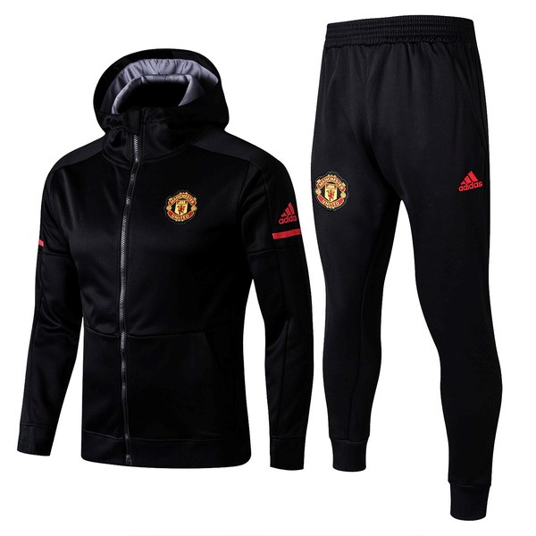 Survetement Foot Manchester United 2017 2018 Noir Gris